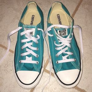 Used Turquoise/Greenish Women's Converse. Size 9